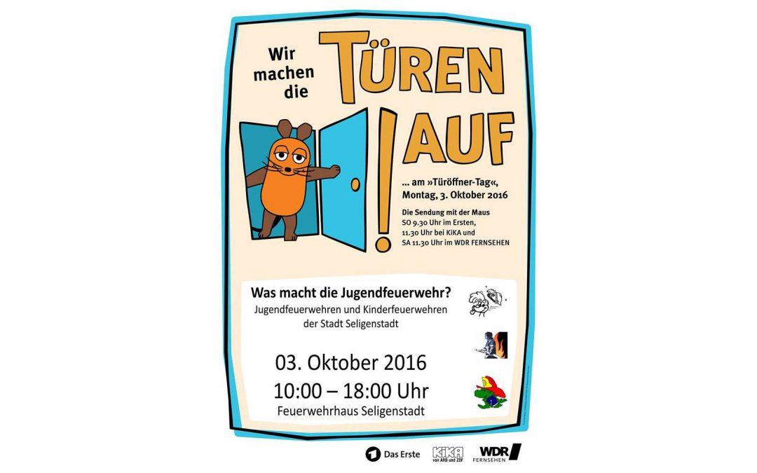 """Gemeinsamer """"Maus Türöffner-Tag"""" bei den Jugendfeuerwehren Klein-Welzheim, Seligenstadt und Froschhausen"""